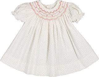 Baby Girls' Rosebud Floral Smocked Dress with Hat, Pink