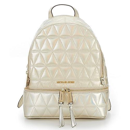 de2770e54cf5 MICHAEL Michael Kors Rhea Zip Medium Backpack (Quilted Pale Gold)