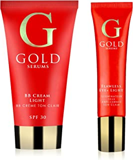 Gold Sérums GSCOMPL - Kit para cuidado del cutis, tono de piel claro