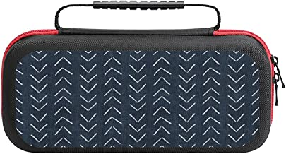 $26 » Mud Cloth Big Arrows In Navy Case Compatible with Switch Case Protective Carry Bag Hard Shell Storage Bag Portable Travel ...