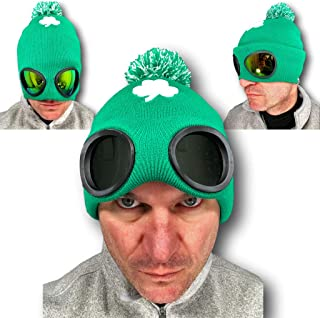 hat with sunglasses built in