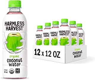 Harmless Harvest Organic Coconut Water | No Sugar Added | Hydrating With Natural Electrolytes | 12oz (Pack ...
