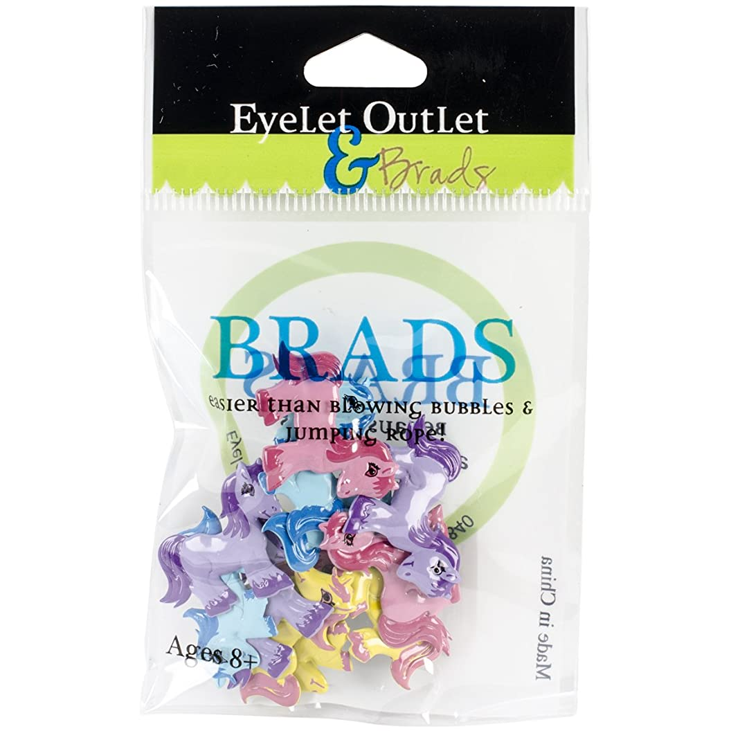 Eyelet Outlet Pony Shape Brads 12/Pack alcsbzamjcr32