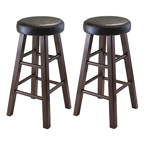 Awe Inspiring Dark Brown Stools Amazon Com Caraccident5 Cool Chair Designs And Ideas Caraccident5Info