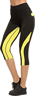 Ekouaer Women痴 Tight Workout Running Mesh Leggings Yoga Fitness Pants with mesh