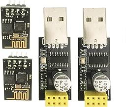 Sunhokey ESP8266 ESP-01 Serial WiFi Wireless Transceiver Module with USB to ESP8266 Adapter for Arduino UNO R3 Mega2560 Nano Raspberry Pi (2 PCS ESP-01 + 2 PCS USB)