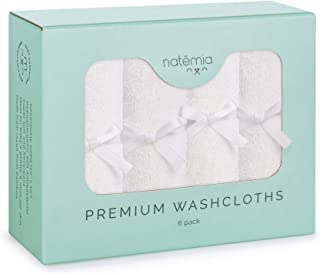 Premium Bamboo Baby Washcloths - Extra Soft Baby Bath Towels (6-Pack) Size 25cm x 25cm - Ideal Organic Reusable Wipes - Pe...
