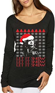 Allntrends Women's Shirt Let It Snow Ugly Christmas Jon Snow Holiday Top