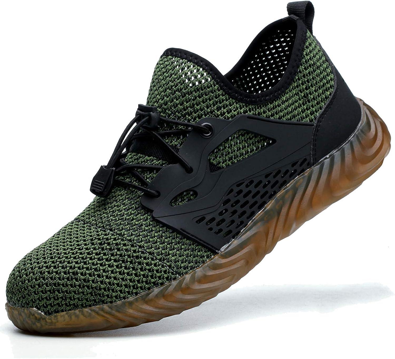 In stock JACKSHIBO Steel Toe Indestructible Work Shoes Recommendation Women Men Ligh for