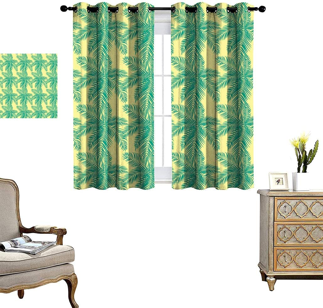Cheap mail order specialty store Tropical Window Curtain Beautifil Palm Exo Leaf Silhouette Tree Spring new work
