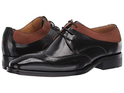 Stacy Adams Hewlett Wing Tip Oxford (Black/Tan) Men