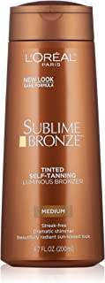 L'Oreal Paris Sublime Bronze Luminous Bronzer Self-Tanning Lotion, 6.7 oz.