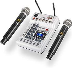 Debra Audio DJ Console Mixc Soundcard با میکروفون بی سیم 2channel UHF برای ضبط خانگی استودیوی دیجی شبکه شبکه زنده کارائوکه