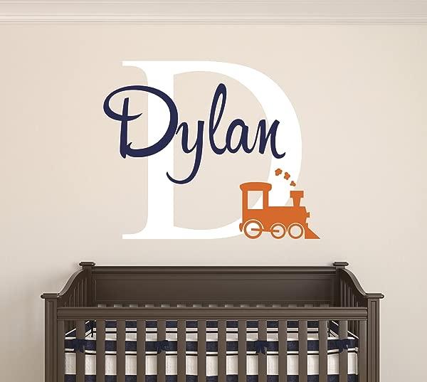 Custom Train Name Wall Decal Baby Room Decor Nursery Wall Decals Train Smoke Art Vinyl Sticker