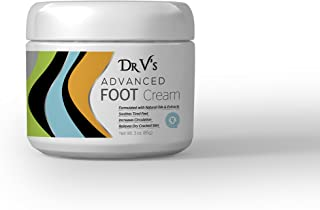 Dr V's Advanced Foot Cream - Paraben Free - Made in USA - Foot Repair Cream with Vitamin E, Arnica Extract, Shea Butter, Avocado Oil & Tea Tree Oil - Rejuvenates, Repairs & Hydrates Dry Feet