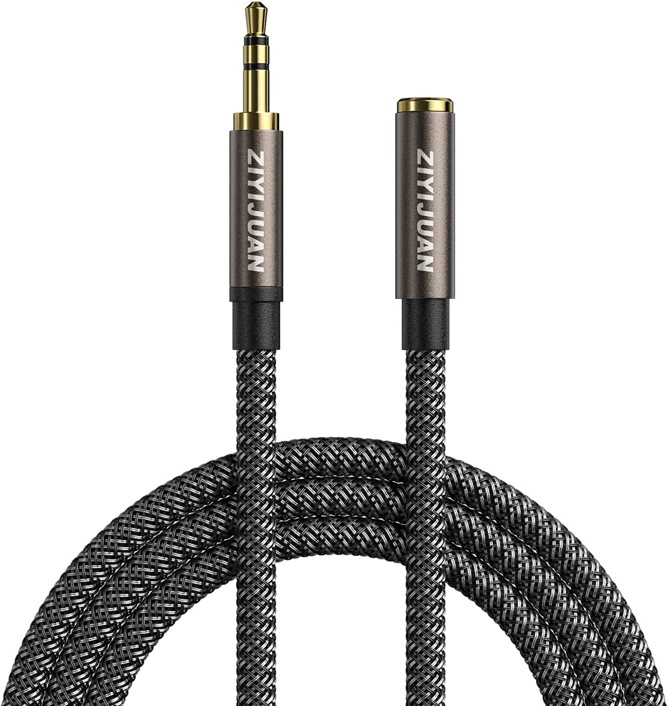 Headphone Extension Cable, 3.5mm 8ft/2.5m Male to Female Stereo Audio Cable Lossless Audio Sound Premium Audio Cord Extension Cable Gold Plated Jack & Strong Nylon Braided…