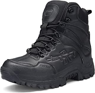 Men's Boots Military Boot Combat Mens Chukka Ankle Bot Tactical Big Size Army Bot Male Shoes