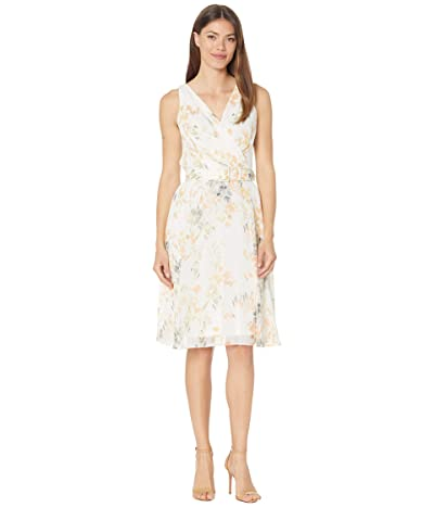 LAUREN Ralph Lauren Floral Fit-and-Flare Georgette Dress Women
