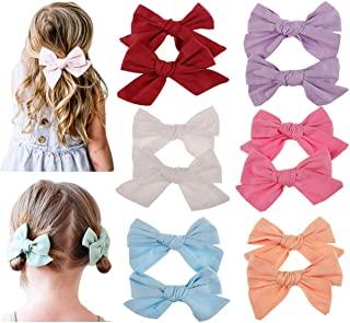 Baby Girls Big Bow Hair Clip Set Alligator Clips Printed Bows Headband for Little Girls Toddler Children