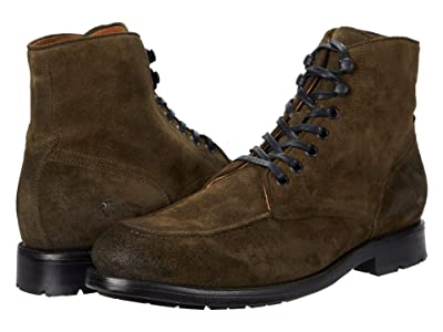 Frye Bowery Moc Lace-Up (Olive Oiled Suede) Men