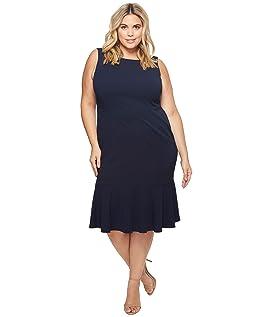 Plus Size Crepe Flounce Dress