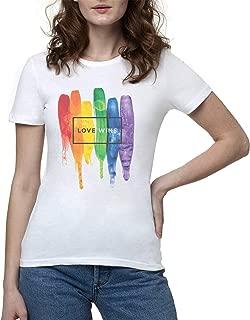 LGBT LGBTQ Pride Gay Gays Lesbian Lesbians Love Camiseta Mujer Blanco | Women's White T-Shirt Tshirt