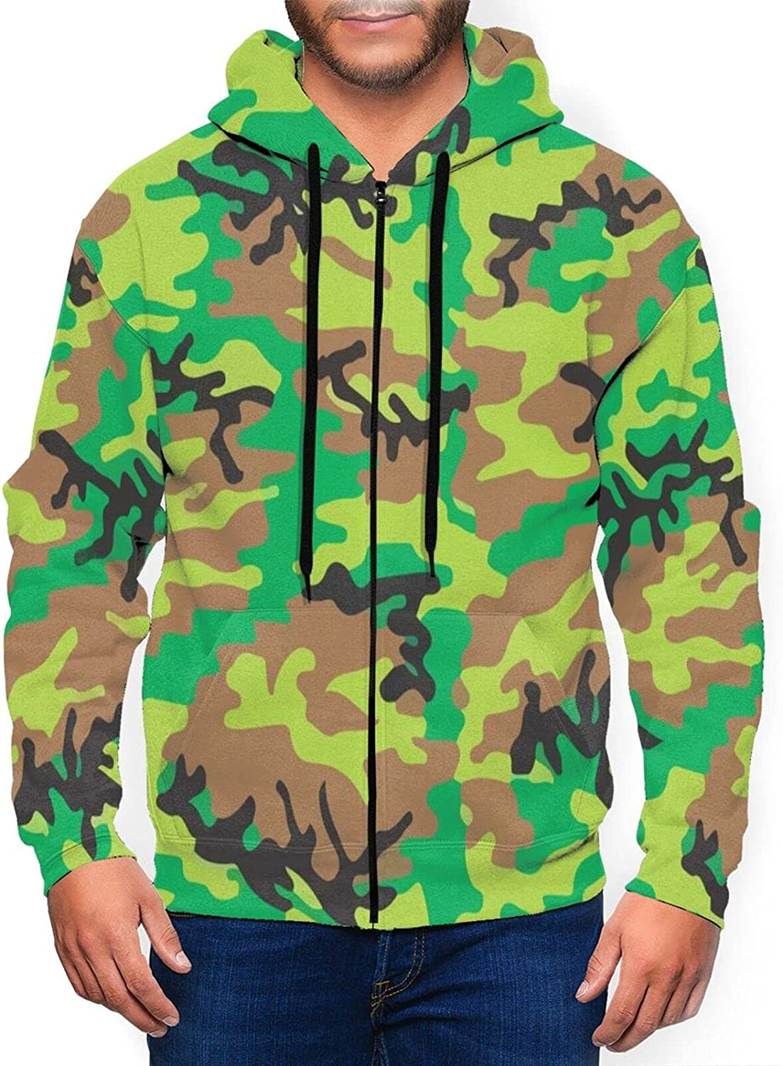 Hello Gorgeous Mens Full 40% OFF Cheap Sale Zip Hoodie Color Army Arlington Mall Sweat Green Fresh