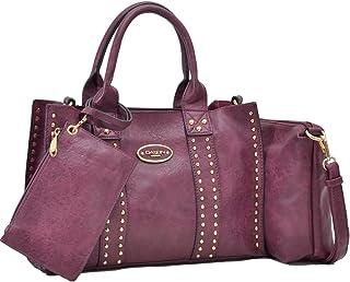 Women Designer Vegan Leather Handbags Fashion Satchel Bags Shoulder Purses  Top Handle Work Bags a2f112061fc40