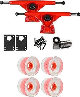 TGM Skateboards RKP Red Longboard Trucks Wheels Package 65mm x 51.5mm 83A Clear