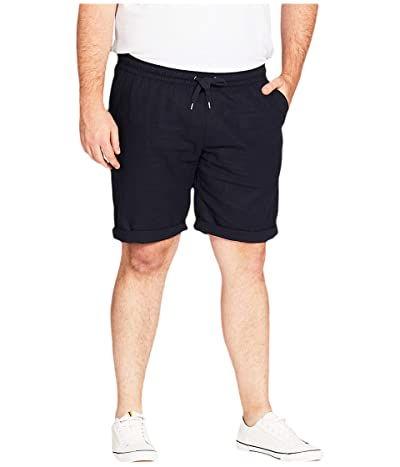 Johnny Bigg Big Tall Byron Linen Blend Shorts (Navy) Men