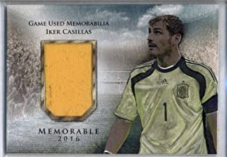 Iker Casillas 2016 Futera Unique Jersey Patch Programme Spain Unused Code /99
