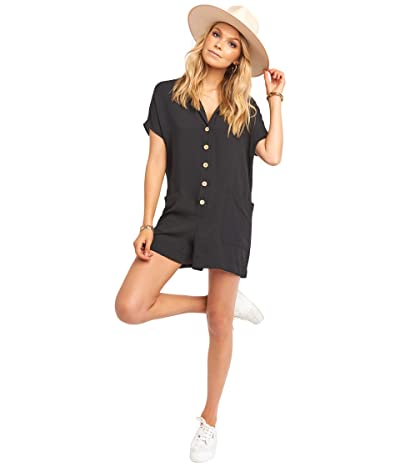 Show Me Your Mumu Yvette Romper (Black) Women