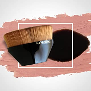 MehFarAel Compact Kabuki Foundation Makeup Brush-Black Case-Super Soft Synthetic Fibers-Flat Top Hexagon Kabuki Foundation...
