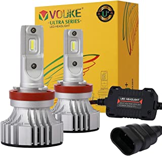 Vouke 2018 U+ H11 H8 H9 Low Beam headlamp Fog Driving Light 8000 Lumens with Xenon White Cree Chips LED Headlight Conversion Kit Halogen Head Light Replacement 6500K -1 Yr Warranty