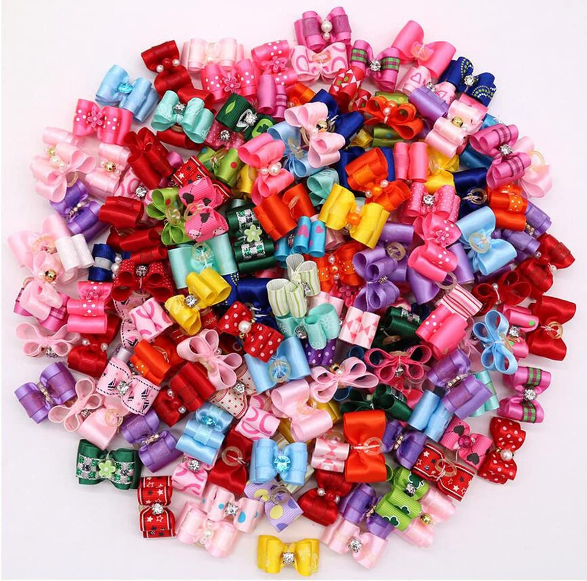 Petunny Puppy Dog Hair Bows Max 56% OFF 30Pcs In stock Doggy Rhineston Cute