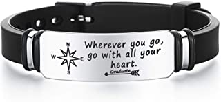 DESIMTION Inspirational Personalized Love Quote Bracelets Gifts to My Son Husband Boyfriend Christmas Birthday Anniversary...