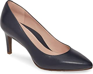 Taryn Rose Collection Women's Dark Blue Leather Gabriela Pointy Toe Pump