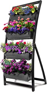 6-Ft Raised Garden Bed - Vertical Garden Freestanding Elevated Planter with 4 Container Boxes - Good for Patio or Balcony ...