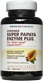 Super Papaya Enzyme Plus American Health Products 180 Chewable