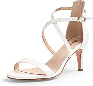 white heels strappy
