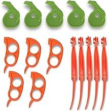 NAHAO Orange Pomelo Citrus Peelers, Set of 15 Peel Orange Peel Essential Tools Easy Slicer Cutter Peeler Remover Opener Ki...