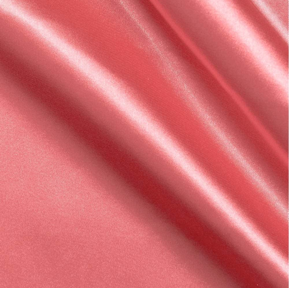 Bridal Satin Coral Fabric - 10 Yards $4.99 by FB Animer and price revision Roll Ranking TOP11 Yard