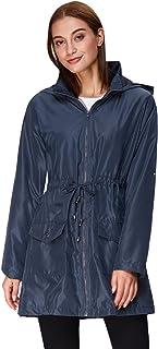 GRACE KARIN Women's Lightweight Hooded Raincoat Waterproof Active Outdoor Rain Jacket