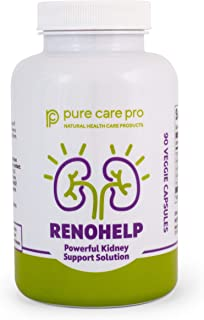 Renohelp Optimal Kidney Health Supplement, Naturally Support Kidney Function, Creatinine Levels, and Glomerular Filtration, All-Natural High Quality Product 90 Vegetarian Capsules