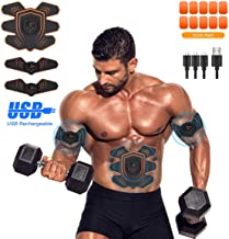 UYTHNG Abs Stimulator Abdominal Trainer Ultimate Abs Stimulator Ab Stimulator Men Women Work Out Ads Power Abs Training Gear Workout Equipment Portable Stimulator Abs Belt…