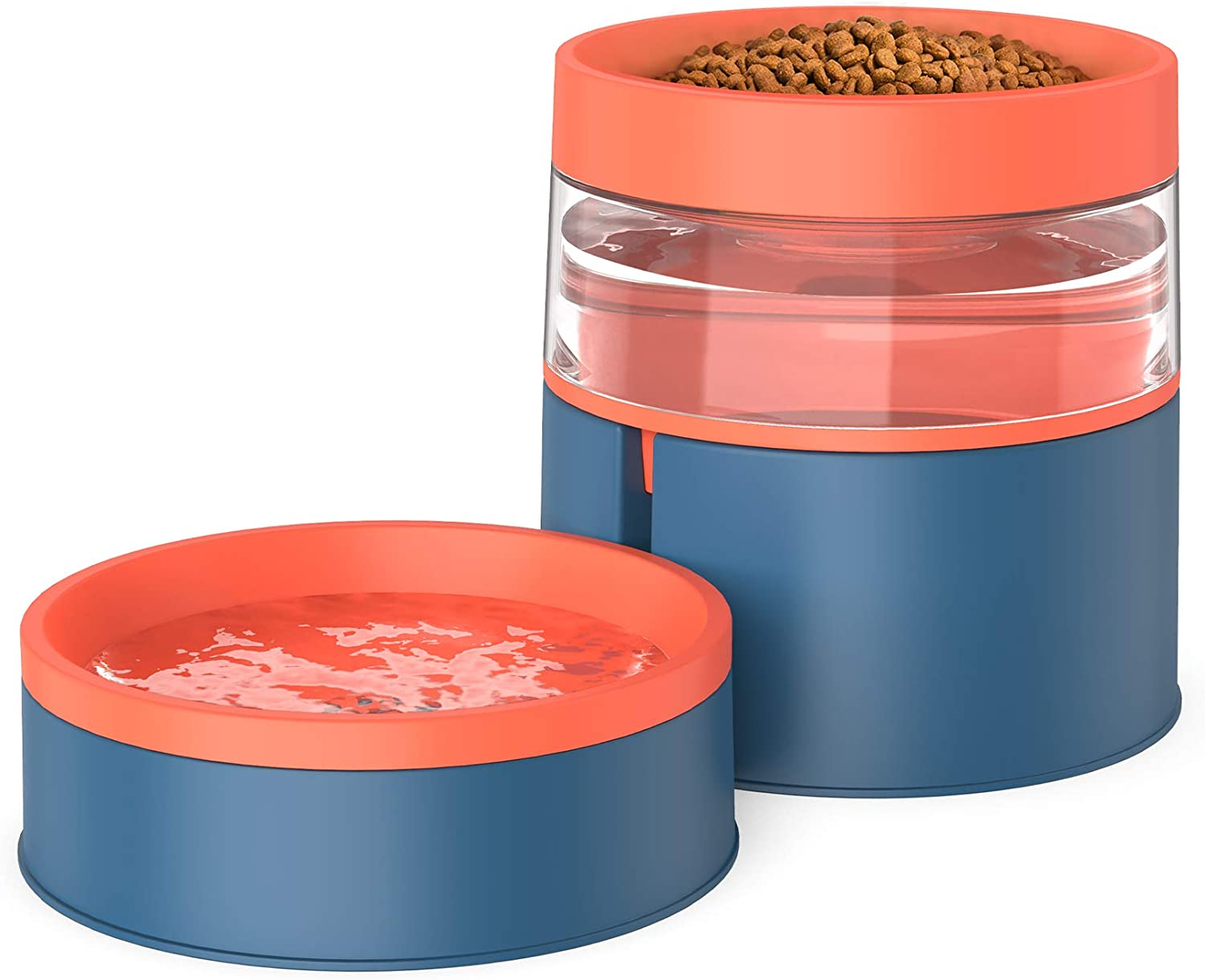 Double Cat Bowls - 2 in 1 Pet Automatic Max 61% OFF Tulsa Mall Detachable Gravit Feeder