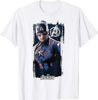 Marvel Avengers Endgame Captain America Logo Poster T-Shirt