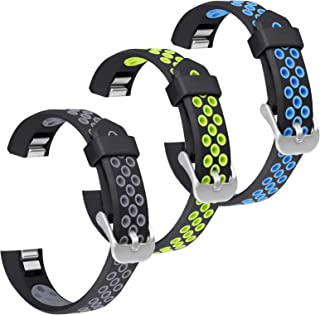 SKYLET Compatible with Fitbit Ace/Fitbit Alta Hr Bands, 3 Pack Soft Breathable Sport Wristbands Compatible with Fitbit Alt...