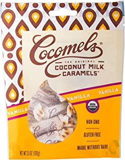 Cocomels Coconut Milk Caramels, Vanilla Flavor, Organic, Dairy Free, Vegan, Gluten Free, Non-GMO, No High Fructose Corn Syrup, Kosher, Plant Based, Individually Wrapped Candy, (1 Pack)