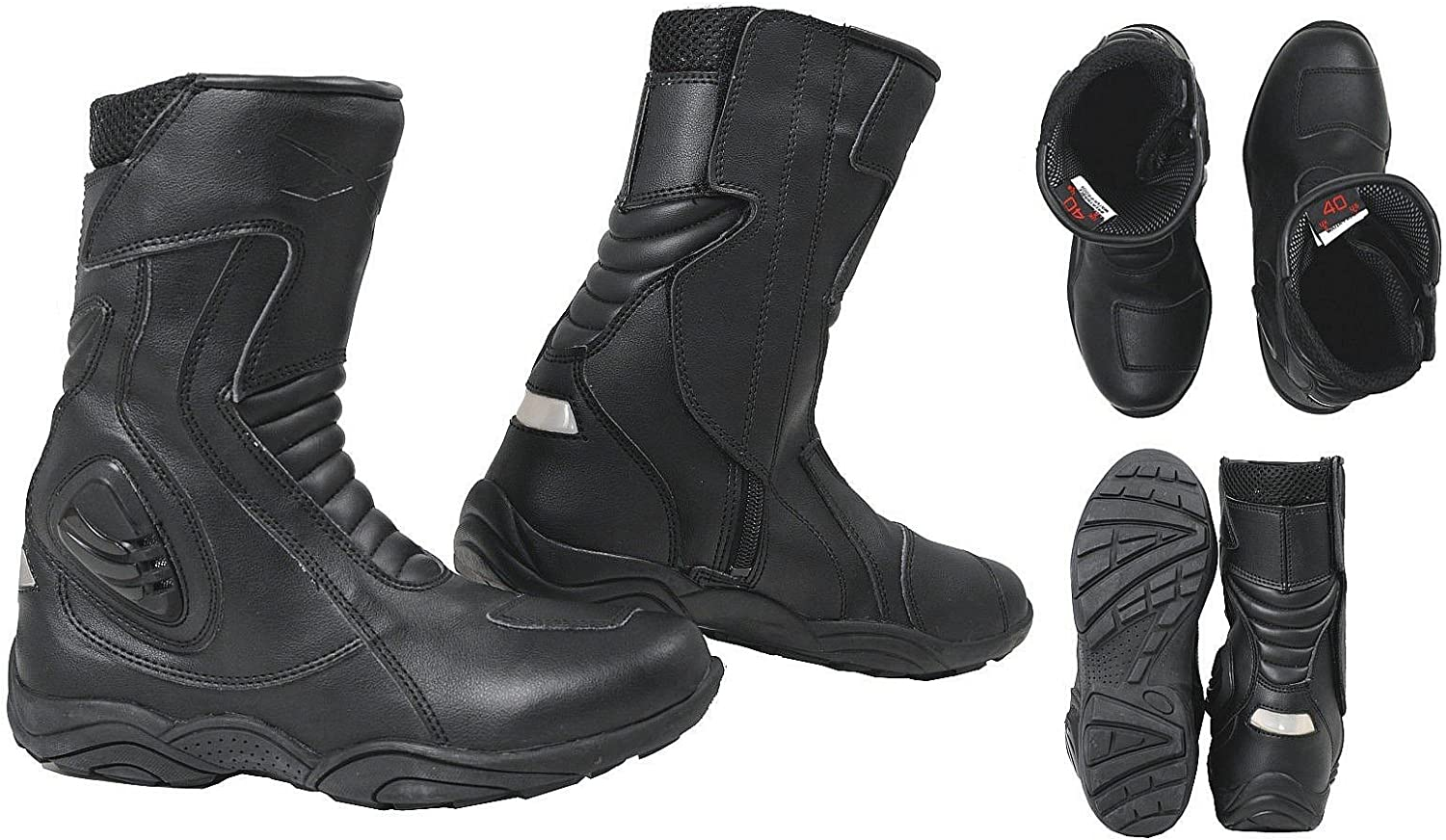 Under blast sales Touring Motorcycle Quad Leather Apparel Oakland Mall Sonicmot Boots Road Race
